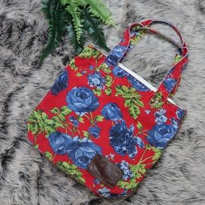 Abercrombie & Fitch Canvas Tote Floral